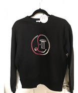 Olympia Le Tan Black Sweatshirt with Sequin Logo - NWT - $147.51