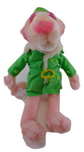 Pink Panther plush in green outfit st. patricks day  - $19.99