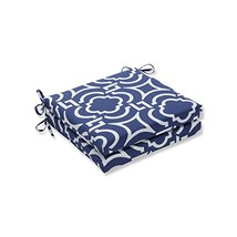 Pillow Perfect Outdoor/Indoor Carmody Navy Square Corner Seat Cushions, ... - £59.86 GBP