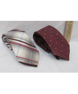 Mens Neck Tie By Ambassador & Sears Classic Collection Burgundy White Lo... - $15.98