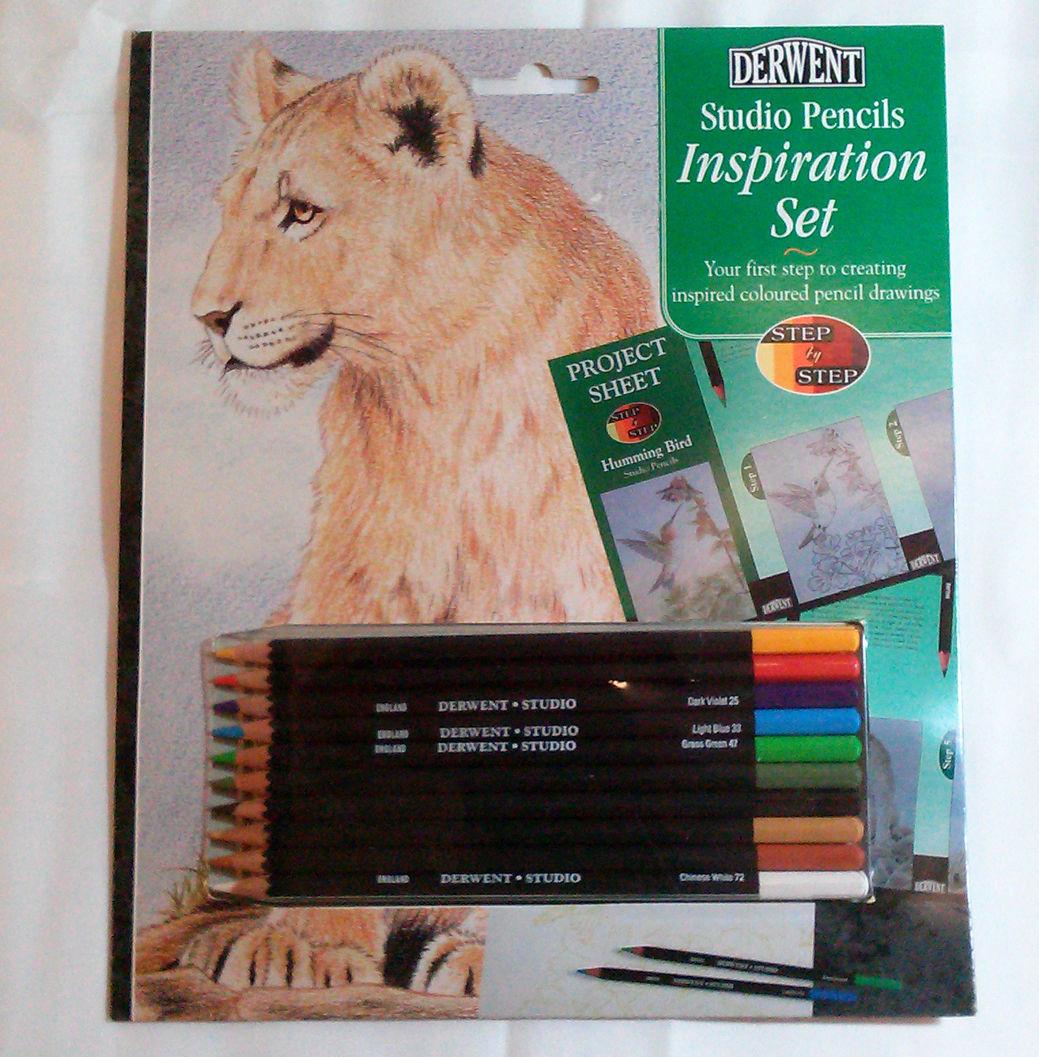 Derwent STUDIO Pencils Inspiration Set Lion Birds Collectible Art Project Kit