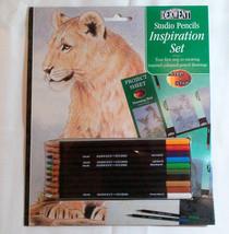 Derwent STUDIO Pencils Inspiration Set Lion Birds Collectible Art Project Kit image 1