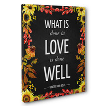 Done In Love Done Well Motivational Quote CANVAS Wall Art Home Décor - $28.22