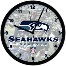 Seattle Seahawks logo, Exclusive 8in. Unique Homemade Wall Clock, Batter... - $23.97