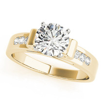 Scroll Cathedral Diamond Engagement Ring, Yellow Gold by MDC Diamonds Ne... - $2,455.00
