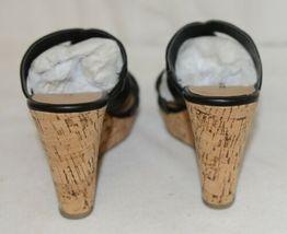 City Classified Layka S Black Sandal Wedge Heel Size Six image 4