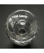 1 (One) RALPH LAUREN HERRINGBONE Lead Crystal Bud Vase-Signed - $31.34