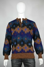 vintage Missoni wool alpaca mohair sweater M half neck Henley made in It... - $200.00