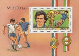 Guinea Wold Cup '86 Mexico Soccer Stopyra Altobelli Sov. Sheet MNH - $15.10