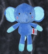 My Snugamonkey Elephant Plush Fisher Price Stuffed Animal Lovey Blue Aqua 95778 - $19.79