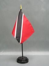 "Trinidad & Tobago 4X6"" Table Top Flag W/ Base New Desk Top Handheld Stick Flag - $4.95"