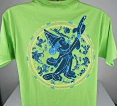 Mickey Mouse  2017 Sorcerer T-Shirt Walt Disney World Youth X-Large Tee Green  - $19.57