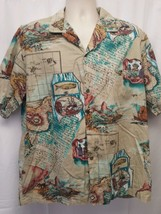 Royal Creations Hawaii 100% Cotton Hawaiian Button Down Mens Shirt Size XL - $14.49
