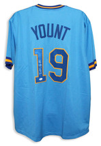 Robin Yount Milwaukee Brewers Autographed Blue Jersey - $237.00