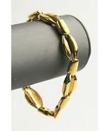 "7"" VINTAGE Jewelry GOLD METAL OPEN CHAIN LINK BRACELET - $10.00"