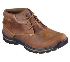 Men's SKECHERS Relaxed Fit Braver Horatio Boot 64864 CDB Sizes 8.5-14 Da... - £71.07 GBP