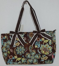 N Gil Product Number PRY2424 Large Diaper Bag Brown Teal Green Paisley Pattern image 1