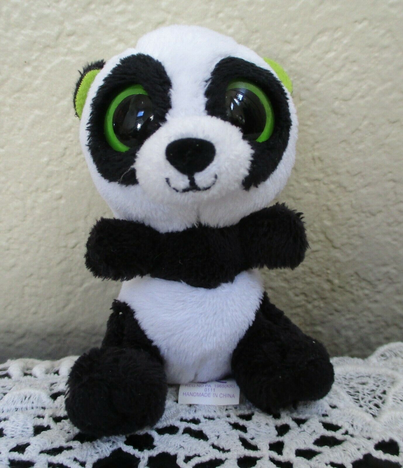 Primary image for Ty Teeny Boos Bamboo the Panda Bear With Clip Keychain USED