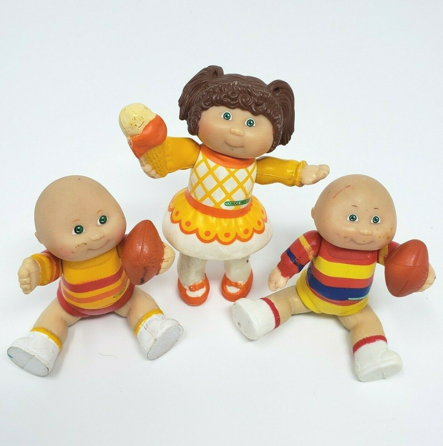 Primary image for 3 VINTAGE 1983 BABY CABBAGE PATCH KIDS BOY &GIRL POSEABLE PVC ACTION FIGURE TOY
