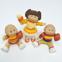 3 VINTAGE 1983 BABY CABBAGE PATCH KIDS BOY &GIRL POSEABLE PVC ACTION FIG... - $31.09