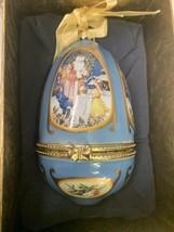 Mr Christmas Father Valerie Parr Hill Musical Egg Shaped Santa Scene Ornament - $11.99