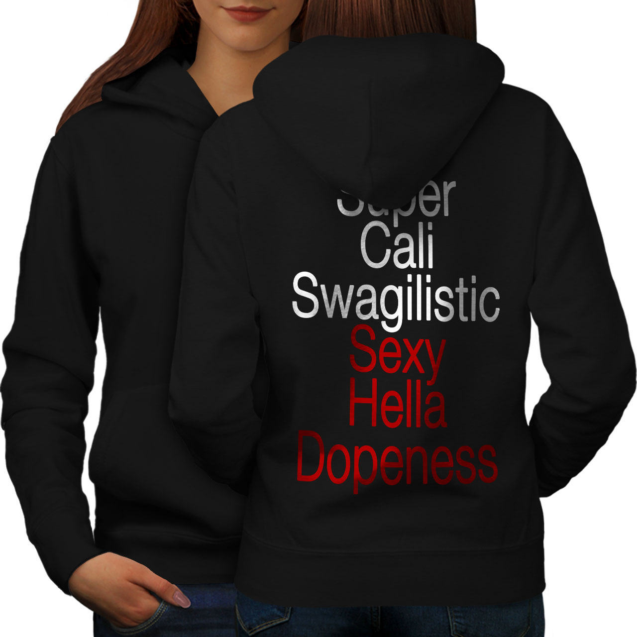Primary image for Super Swag Sweatshirt Hoody Funny Women Hoodie Back