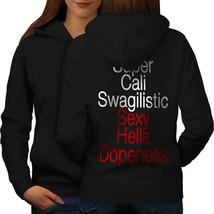 Super Swag Sweatshirt Hoody Funny Women Hoodie Back - $21.99+