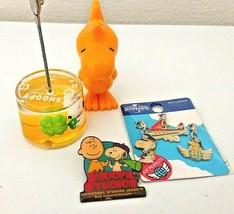 Snoopy USJ Goods/Memo stand /Pin badge LOT set of 4 rare  - $35.00