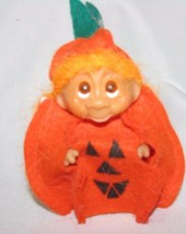 "NORFIN TROLL DOLL 3"" TALL GREAT PUMPKIN COMPLETE !STAMPED DAM 1985 ON FO... - $25.38"