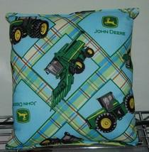 John Deere Pillow Tractor Pillow HANDMADE In USA - $9.99
