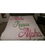 Alpha Kappa Alpha Handmade Crochet Blanket - $150.00