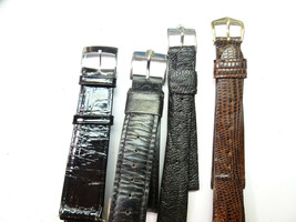 VINTAGE BULOVA ACCUTRON SIGNED CLASP LEATHER 16-18MM BAND FOR YOUR WATCHES - $271.14