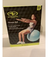 Athletic Works 55cm Fitness ball Exercises embossed on ball for easy Re... - $17.46