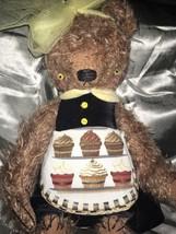 SASHA POKRASS ARTIST BEAR DRESSED IN CUPCAKE APRON - $169.14
