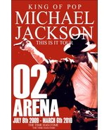 "Michael Jackson Reproduction ""This Is It"" 02 Arena Tour Stand-Up Display - $16.99"