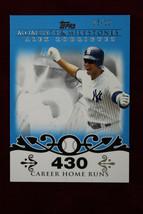 2008 Topps Moments & Milestones Alex Rodriguez BLUE SP 3/10 Career Home Runs 430 - $20.79