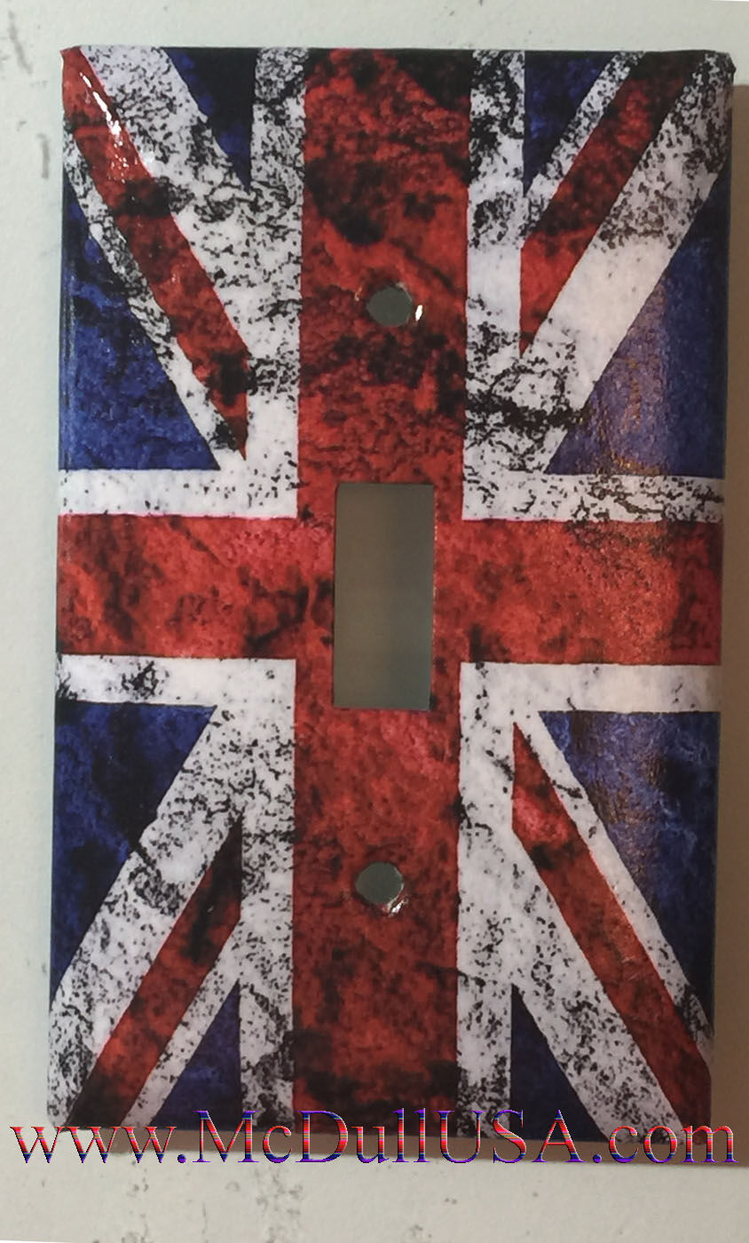 UK United Kingdom Flag Light Switch Power Outlet wall Cover Plate Home Decor