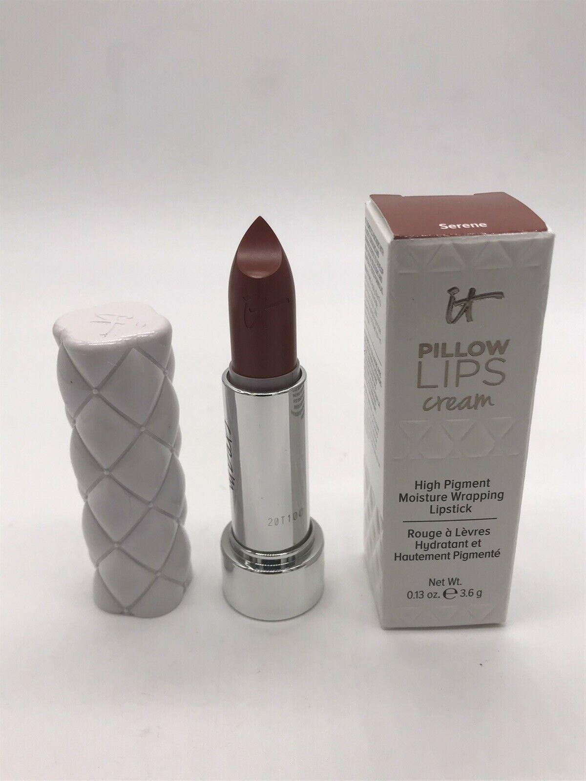 It Cosmetics Pillow Lips CREAM Lipstick Full Size SERENE (Terracotta Brown) BNIB - $14.31