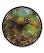 American Beauties Trout By Mark Susinno Lighted Wall Clock - $129.95