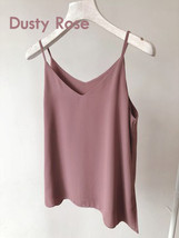 Summer Sleeveless Tank Top Lady Pink Chiffon Tops Wedding Bridesmaid Top Blouses image 9