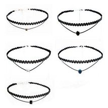 5 Pcs All-Purpos Style Choker Collar Girls Lady Fashion Necklace