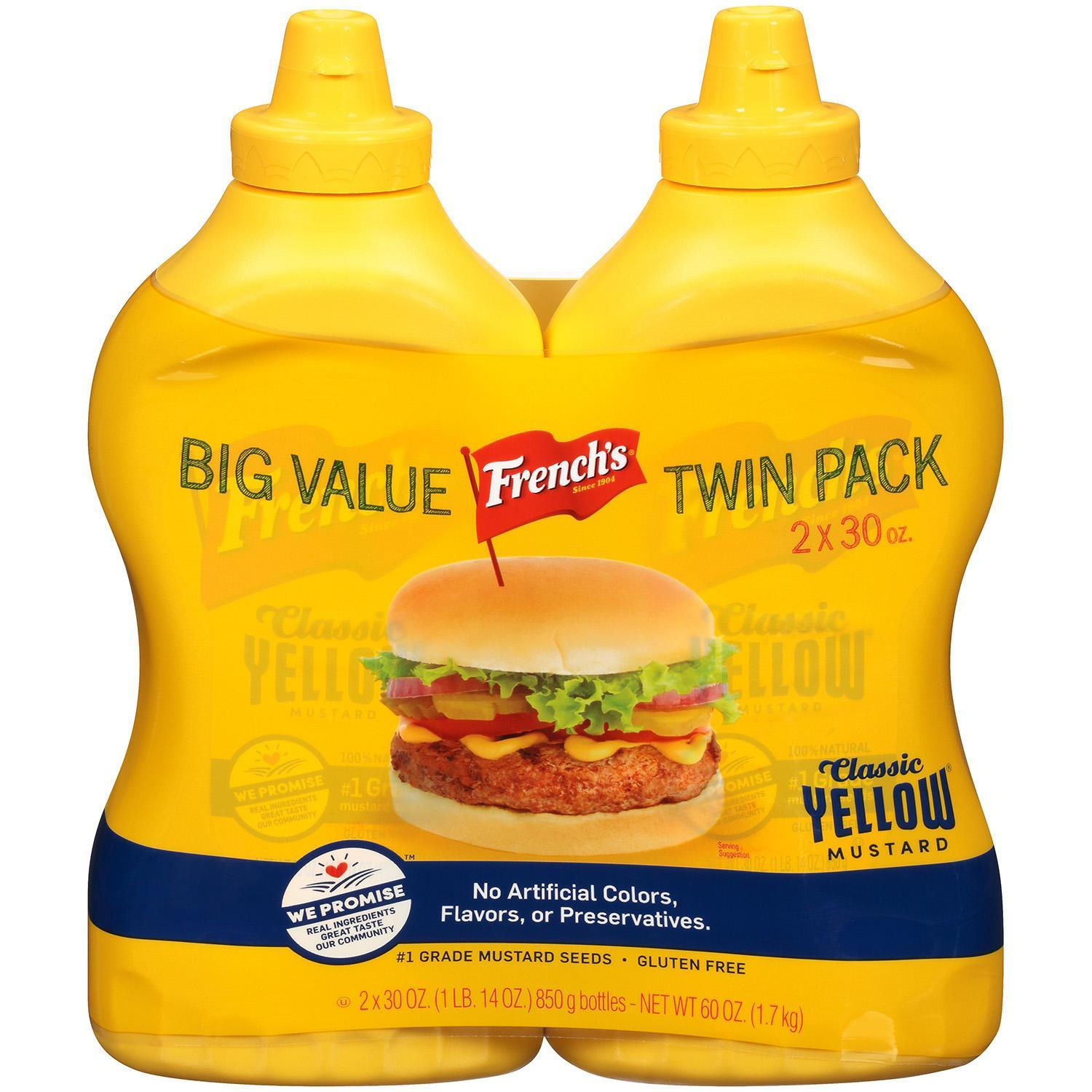 French's 100% Natural Classic Yellow Mustard (30 oz., 2 pk.)  - $6.98