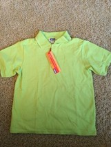 Nwt Italian Chicco Lime Green Polo Boys Shirt Size 6 Nice (Lsch) - $9.49