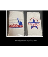 """Flour Sack Towel Absorbent Linen 28"""" x 28"""" Love America or Home of The Free - $12.99"""