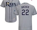 Men's Tampa Bay Rays #22 Chris Archer Gray Road Flex Base Jersey