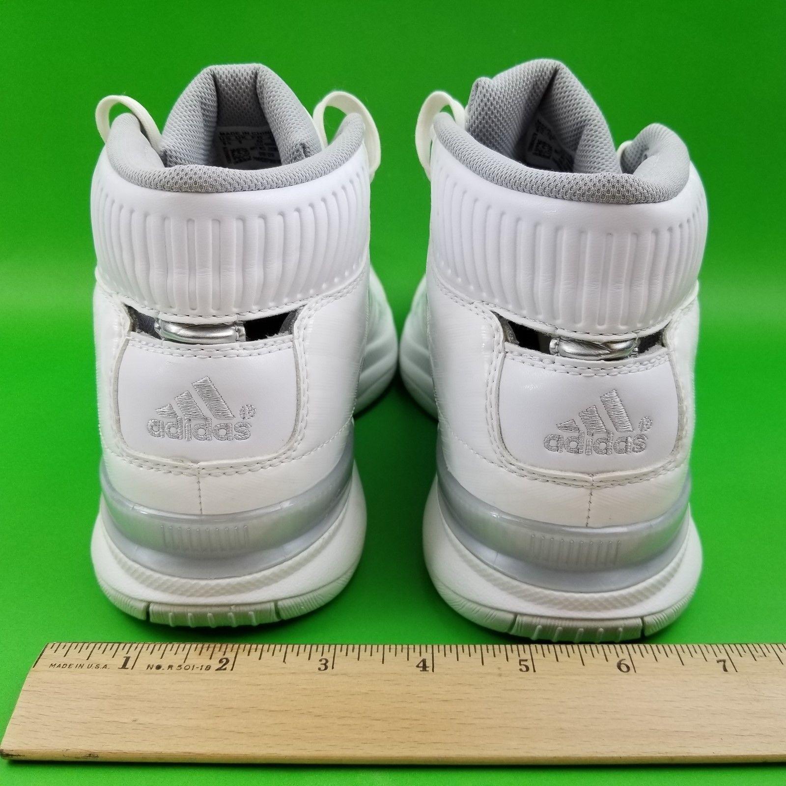 Womens 9 1/2 Adidas Pro Model Team Color Change Stripe White Basketball Shoes