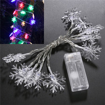 (10 LED RGB)10 LED Battery Operated Heart Shaped Christmas String Light F - $16.00