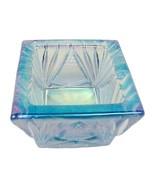 Lt Caprice Blue Carnival Glass Square Open Salt... - $13.95