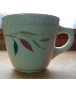3 Syracuse China Restaurant Coffee Cups Mugs - Tan Grass, Teal & Pink Le... - $13.00