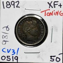 1892 Silver Barber Dime 10¢ Coin Lot# CV31